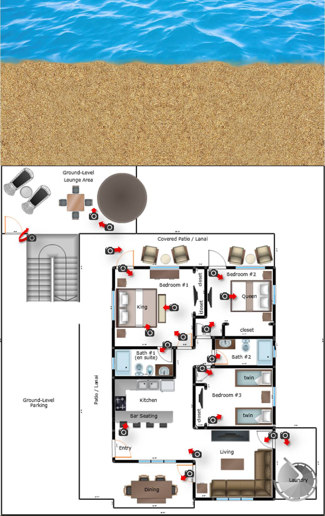 Middle Unit: Floorplan & Photos